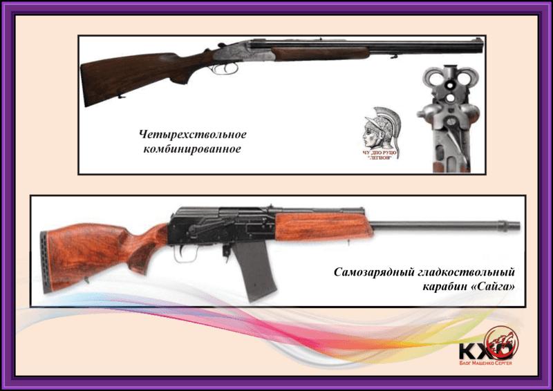 Огнестрельное длинноствольное гладкоствольное оружие