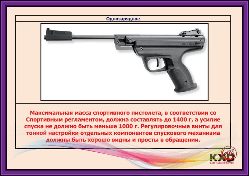 Огнестрельное короткоствольное оружие с нарезным стволом