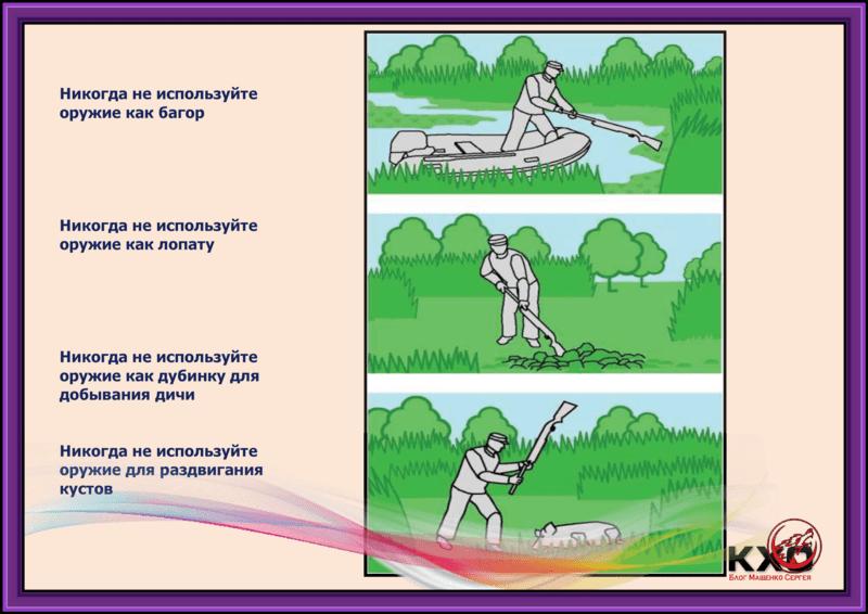 Особенности безопасного обращения с оружием на охоте