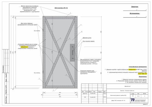 Проект дверного проёма КХО