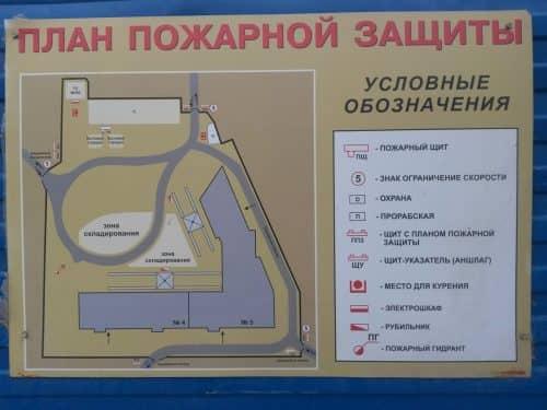 План пожарной защиты